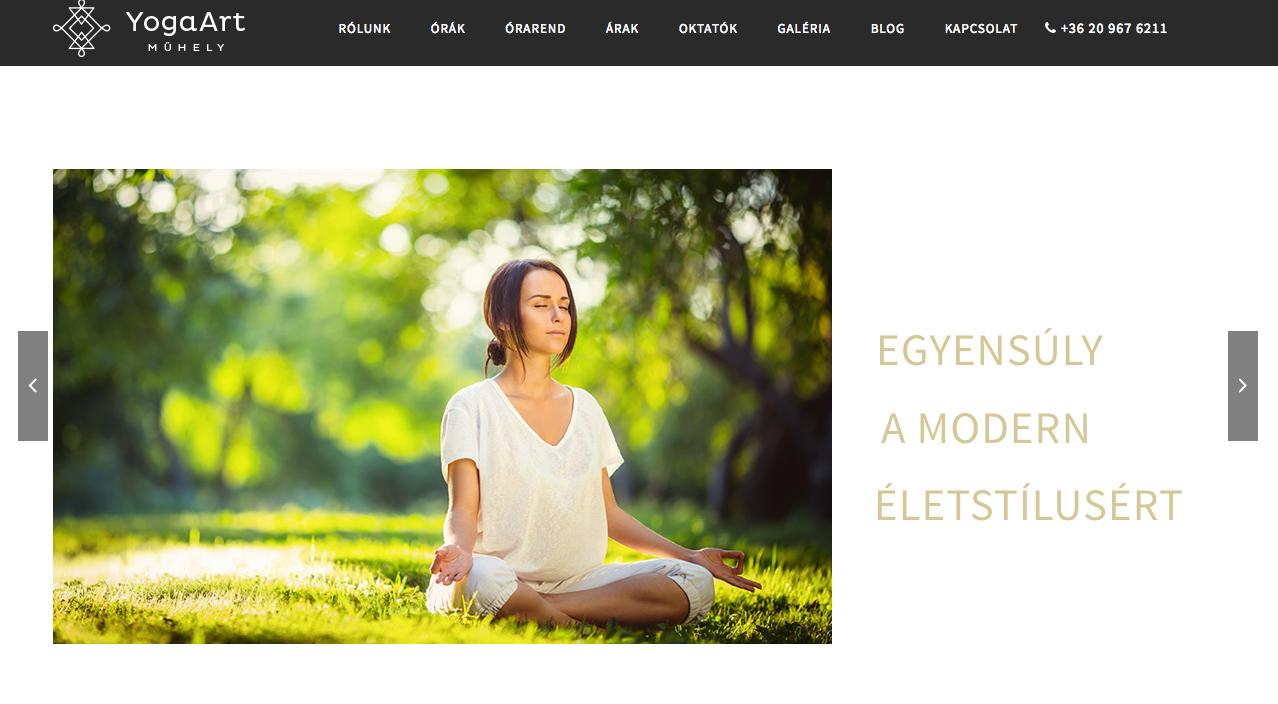 yogaart.hu címlap