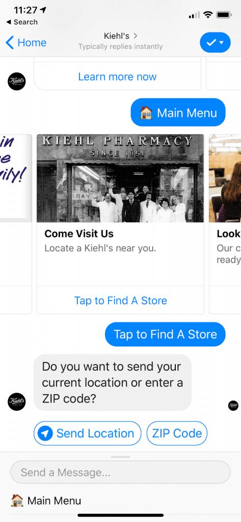 Jó, ha több beviteli módot is nyújtunk a felhasználóknak. A képernyőfotó a fő menüt is megmutatja a kép alján, ami az egyik módja annak, hogy a felhasználó visszatérhessen egy korábbi lépéshez
