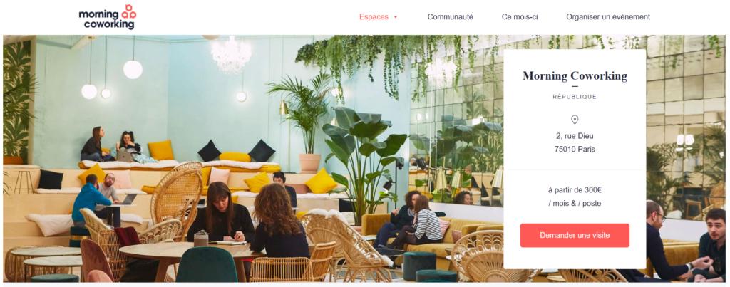 A francia Morning Coworking segítségével egész Párizs területén kereshetünk megosztott irodákat