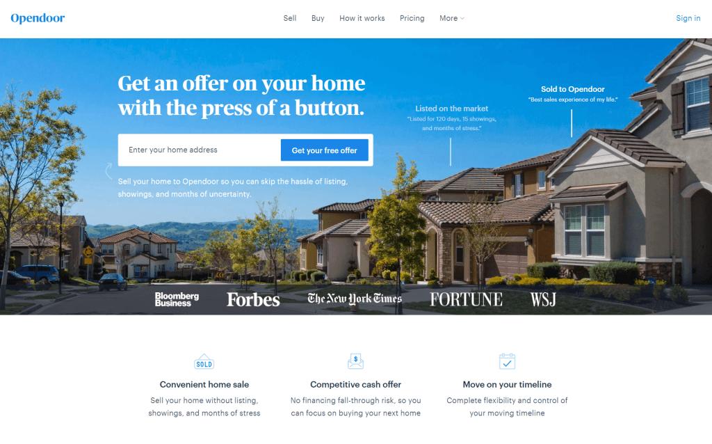 Az OpenDoor.com big data és üzleti adatelemzés segítségével számítja ki és ajánlja fel otthonunkért az ideális árat